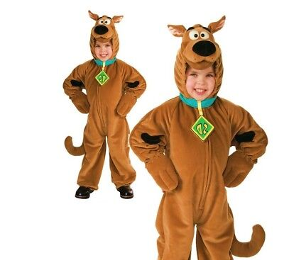 Child Deluxe SCOOBY DOO Fancy Dress Costume Onisie Fleecy Outfit Book Week 3-7yr