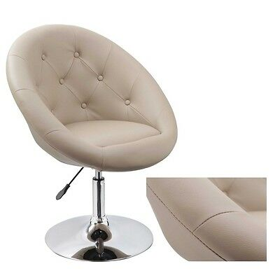 Sessel in CAPPUCCINO höhenverstellbar Kunstleder Clubsessel Coctailsessel