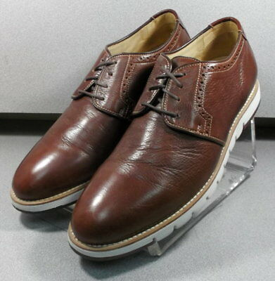 271744 PF38 Men's Shoes Size 10.5 M Brown Leather 1850 Series Johnston & Murphy