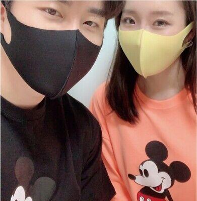 12pcs Easy Breathable Korea Clear Face Masks Washable UV Protction 4 Color