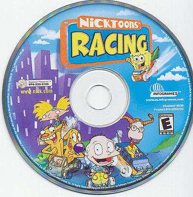 NICKTOONS RACING Classic Kid's PC Game Nickelodeon Spongebob NEW CDRom FREE (Kids Pc Game)