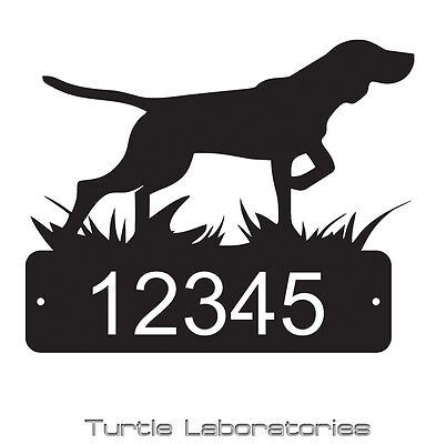 Pointer Bird Dog Home Address Sign Mail House Dog Memorial Pet Yorkie