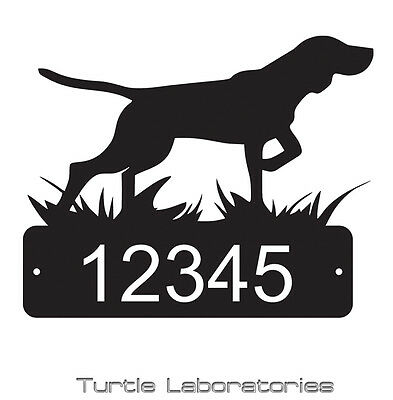 Pointer Bird Dog Home Address Sign Mail House Dog Memorial Pet Yorkie