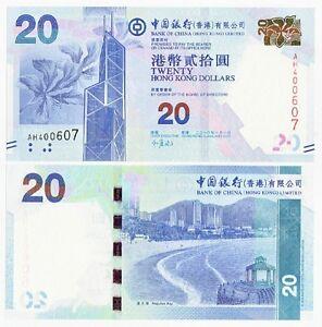 Hong-Kong-P-New-2010-BOC-20-Dollar-Gem-UNC-New