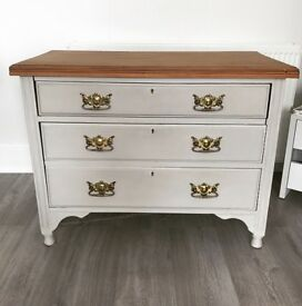 Upcycled antique chest of drawers / dresser