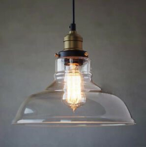 new vintage industrial pendant lighting bulb ceiling lamp glass light