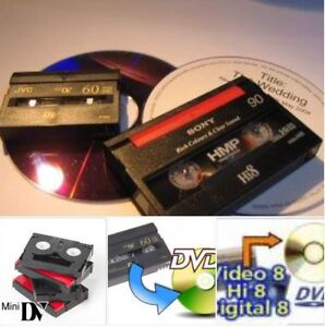 We convert European or Asian PAL camcorder videotapes to DVD