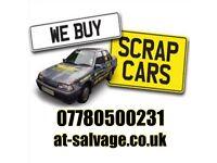 Scrap my car £100+ hertfordshire scrap a van same day Collection at-salvage