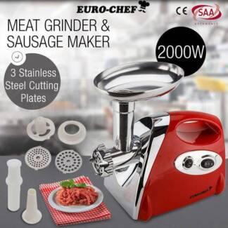 Euro-Chef Electric Meat Grinder Sausage Maker Filler Mincer Stuff