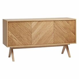 John Lewis Newman Sideboard by Bethan Gray Solid Oak & Oak Lacquered RRP £899.00 Ex Display