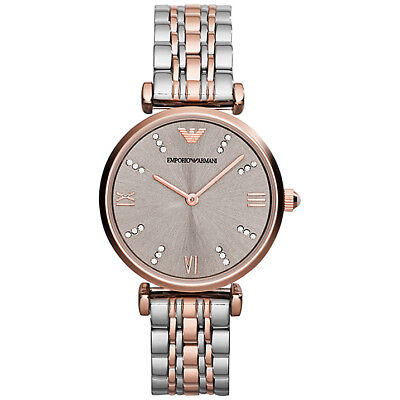 ** NEW ** Emporio Armani® watch AR1840 Ladies Classic with gold (Armani Add)
