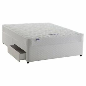 Double bed - 4 drawer divan base with mattress and headboard included