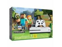 Microsoft Xbox One S Console, 500GB, with Minecraft Bundle. Brand new sealed. Unwanted gift