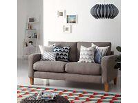 John Lewis The Basics Jackson Medium 3 Seater Sofa, Basics Dash Charcoal **CAN DELIVER**