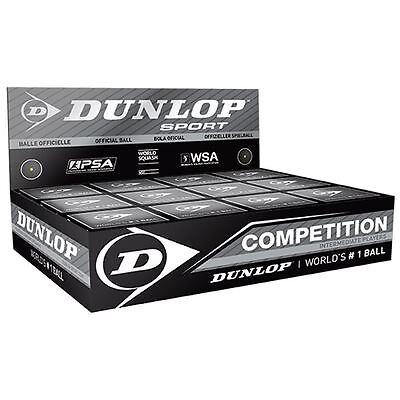 Dunlop Competition Squash Balls - 1 dozen