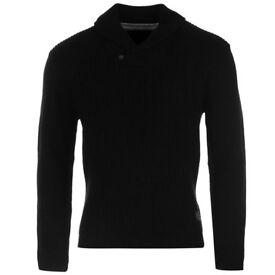 Pierre cardin shawl jumper XXL very thick warm jumper black