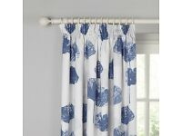 Water lily Lined Blackout Curtains