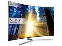 SAMSUNG 65 CURVED SMART LED SUHD HDR 4K VOICE CONTROL 2400PQI FREESAT & FREEVIEW HD