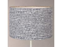 John Lewis Minna Cylinder Lampshade, Grey