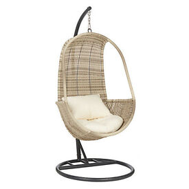 John Lewis Dante Pod Hanging Chair NEW ! NEVER USED! !