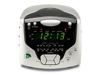 NEW in Orignal Packaging - unwanted gift: ROBERTS CR9986 CD Clock Radio, Silver