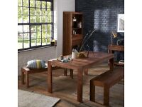 John Lewis Samara 8 Seater Dining Table and Benches