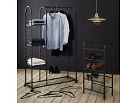 Huge Designer House Sale-Stylish John Lewis Garment Rail & Shelf Units, 3 Avail, VGC, RRP £75 each