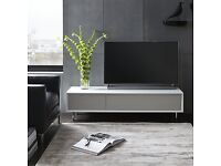 """BNIB -John Lewis Dante TV Media Stand for TVs up to 65"""", White / Taupe rrp £599"""