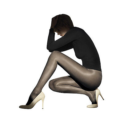 "Brand NEW Wolford ""Satin Touch 20"" Tights Large Black"