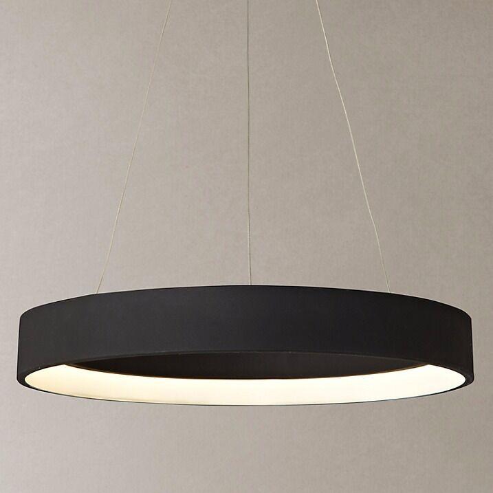 Led Ceiling Lights John Lewis : Black hoop ceiling light jorgen led pendant