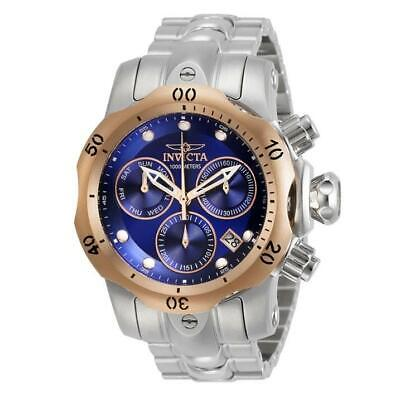 Invicta Venom 29628 Men's Round Navy Blue Chronograph Day Date Analog Watch