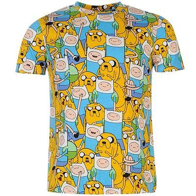 ADVENTURE TIME LICENSED T-SHIRT NEU/NEW OFFICIAL JAKE THE DOG MENS TOP AOP FINN