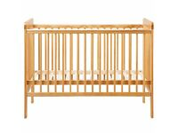 John Lewis Child Cot with mattress, bumpers - as new
