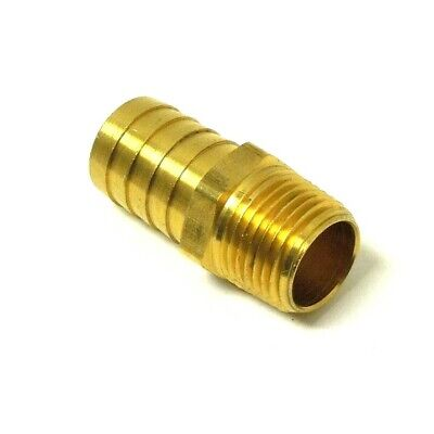 Hose Barb For 34 Id Hose X 12 Male Npt Hex Body Brass Fuel Fitting 201a-12d