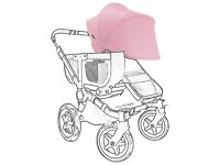 Bugaboo Donkey Sun Canopy, Soft Pink new RRP £60