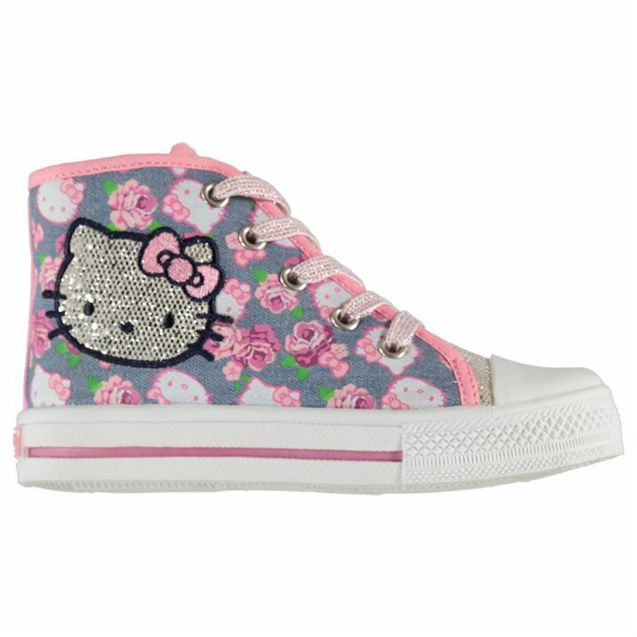 Kinder Sneakes Turnschuhe Hello Kitty Canvas Infants Trainers
