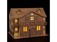 WANTED John Lewis Light Up Wooden House Advent Calendar