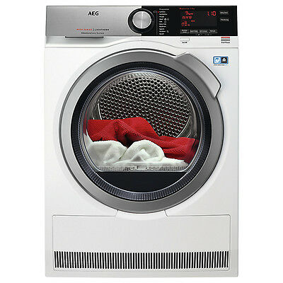 AEG T7DEE835R 8kg Load Freestanding Heat Pump Tumble Dryer in White