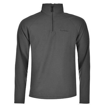PIERRE CARDIN GREY QUARTER ZIP FLEECE PULLOVER NEU/NEW SWEATER JACKE SHIRT TOP - Quarter-zip Fleece Pullover
