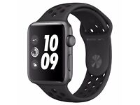 #NEW# Apple Watch Series 2 Nike+ 42mm Space Grey Aluminium Case with Sport Band, Black