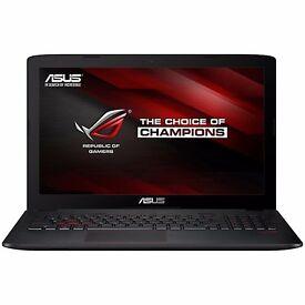 "ASUS ROG GL552VW Gaming Laptop, Intel Core i7, 8GB RAM, 1TB HDD + 256GB SSD, 15.6"", FHD, Black"