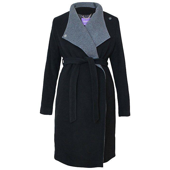 Séraphine Donatella Maternity Coat, Black/Grey, size 8