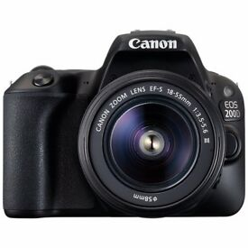 Canon EOS 200D Digital SLR Camera with 18-55mm f/3.5-5.6 III Lens, 1080p Full HD, 24.2MP, Wi-Fi