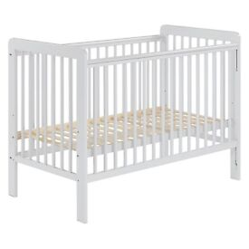 BRAND NEW BOXED JOHN LEWIS COT BED AND SILENT NIGHT MATTRESS