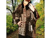 Brown Poncho, Was £35 NOW £15