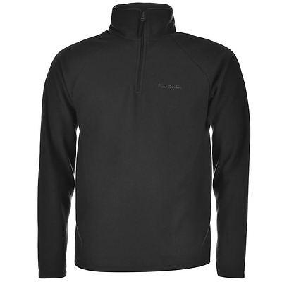 PIERRE CARDIN BLACK QUARTER ZIP FLEECE PULLOVER NEU/NEW SWEATER JACKE SHIRT TOP - Quarter-zip Fleece Pullover