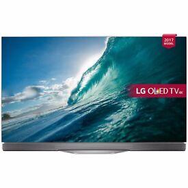 LG OLED55E7N OLED HDR 4K Ultra HD Smart TV, 55 inch - 5 Year John Lewis Warranty - Cheapest in UK