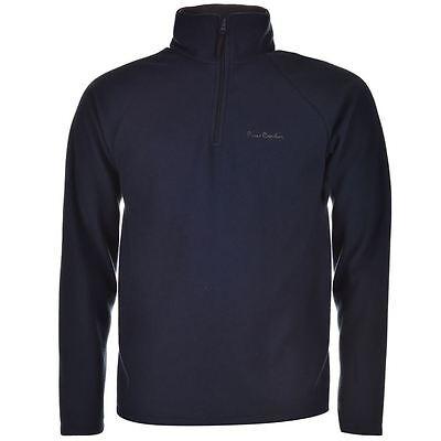 PIERRE CARDIN NAVY BLUE QUARTER ZIP FLEECE PULLOVER NEW SWEATER JACKE SHIRT TOP - Quarter-zip Fleece Pullover
