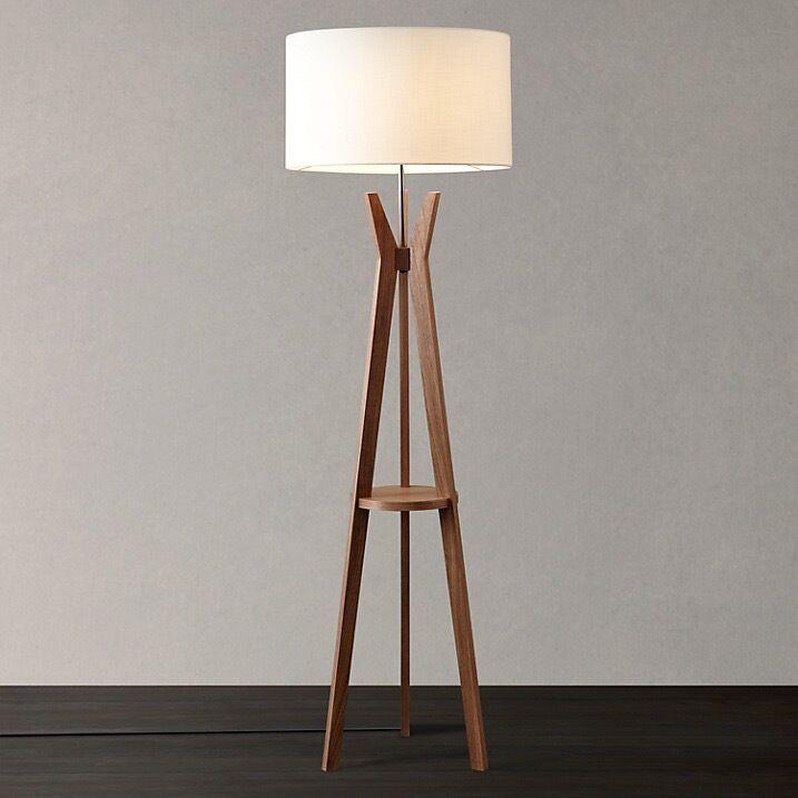 John Lewis Walnut Trafalgar Tripod Floor Lamp, RRP £270, never ...