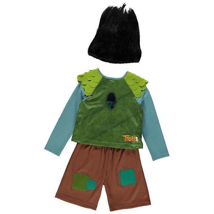 Trolls branch costume 5-6 years